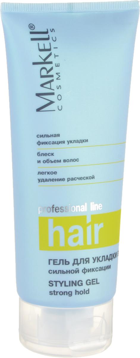 Markell Гель для укладки волос Professional Hair Line Сильной фиксации, 200 млMP59.4DПрекрасное стайлинговое средство, которое позволит вам создавать разнообразные прически на волосах любой длины. Универсальность средства состоит в том, что наносить его можно не только на влажные волосы, но и на сухие.