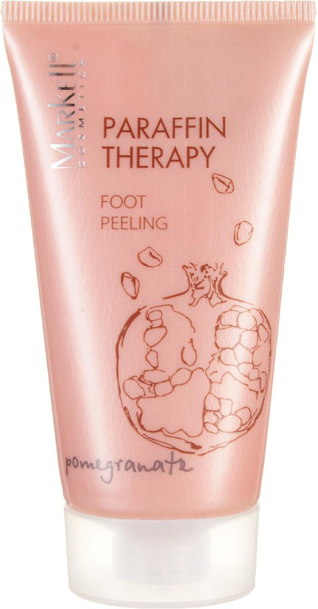 Markell Paraffin Therapy Пилинг для ног ГРАНАТ, 50 млFS-00897Пилинг для ног с комплексом натуральных масел ши и какао идеально подходит для ухода за кожей ног и стоп. Экстракт граната и другие активные компоненты пилинга улучшают микроциркуляцию, отшелушивая омертвевшие клетки, дают коже возможность «дышать» и стимулируют рост новых клеток. Кожа становится мягкой, нежной, бархатистой. Массаж ступней с таким косметическим средством приводит в норму процесс кровообращения и венозного оттока, а влияние на активные точки ступней способствует нормализации работы внутренних органов.