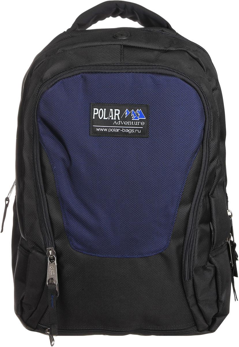 Рюкзак городской Polar, 15 л, цвет: синий. П959-04MHDR2G/AОтделение под ноутбук 30x25x4 Материал – полиэстер с водоотталкивающей пропиткой. Рюкзак для ноутбука фирмы Polar. Жесткая спинка с горизонтальной и вертикальными вставками из пены повторяющие форму спины. Грудная и поясничная стяжки лямок. Два отделения, одно из которых с отделением для ноутбука. Два боковых кармана (левый из трикотажной сетки, правый из основной ткани с клапаном на липучке). Один вместительный карман с дополнительными отделениями и один карман чуть поменьше для мелких вещей. Оригинальный и очень удобный рюкзак позволит взять с собой все дополнительные аксессуары для вашего портативного компьютера.