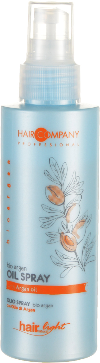 Hair Company Спрей для волос с био маслом Арганы Professional Light Bio Argan Oil Spray 125 млLE0985600Спрей имеет уровень pH, который идеально подходит для повреждённых и окрашенных волос. Используется перед процедурой окрашивания, обесцвечивания или химической завивки.Особенности продукта:Прекрасно увлажняет и делает цвет окрашенных волос более яркий и стойкийЭкстракт арганового мала в составеЛоконы легко расчёсываютсяРезультат применения – насыщенные цвета, волосы более мягкие, шелковистые и блестящие!