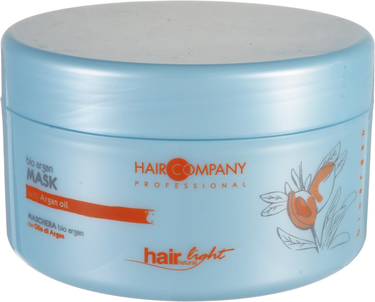 Hair Company Маска для волос с био маслом Арганы Professional Light Bio Argan Mask 500 млFS-00897Маска линии bio argan – идеальна для борьбы с ломкостью и обезвоживанием повреждённых и окрашенных волос. Масла Арганы увлажняют и поддерживают цвет локонов после окрашивания.Уход за волосами с аргановым масломЦенное масло Арганы, получают из плодов дерева Аргании (Argania Spinosa), которое произрастает на юге Марокко. На протяжении тысячелетий используется в качестве эликсира красоты.Особенности продукта:Благодаря аргановому маслу в составе маски, цвет волос становится более насыщенным, живым и стойкимСредство богато ненасыщенными кислотами и витамином ЕОтлично увлажняет и питает волосы по всей длинеРезультат использования – волосы прекрасно защищены, увлажнены и их цвет более насыщенный.