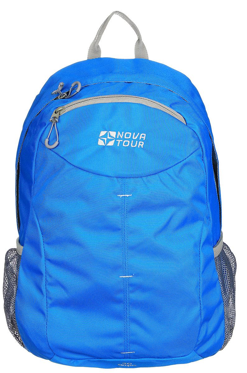 Рюкзак городской Nova Tour Симпл 20, цвет: синий, 20 л95767-407-00Для тех, кто активно перемещается по городу.Облегченный городской рюкзак с одним основным отделом, небольшим фронтальным карманом и боковыми карманами из сетки.