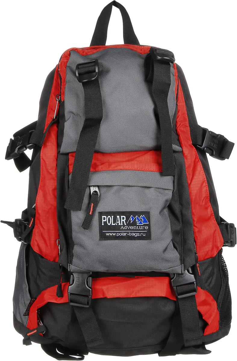Рюкзак городской Polar, 16 л, цвет: оранжевый. П956-02П956-02Удобный вместительный рюкзак для всего самого необходимого на отдыхе. Жесткая спинка и удобные лямки повторяющие форму плеча с дополнительной грудной и поясничной стяжками позволяет уменьшить нагрузку на спину и сделает ваш отдых максимально комфортным. Большое отделение с дополнительным карманом на молнии (кошелек, документы) внутри. С внешней стороны расположены стяжки для регулирования объема. Два боковых кармана (правый на молнии, левый из сетки), карман для обуви, три небольших кармана для мелких вещей, один из которых с клапаном и двумя вертикальными молниями застежками и дополнительными отделениями. Рюкзак выполнен из прочного полиэстера с водоотталкивающей пропиткой.