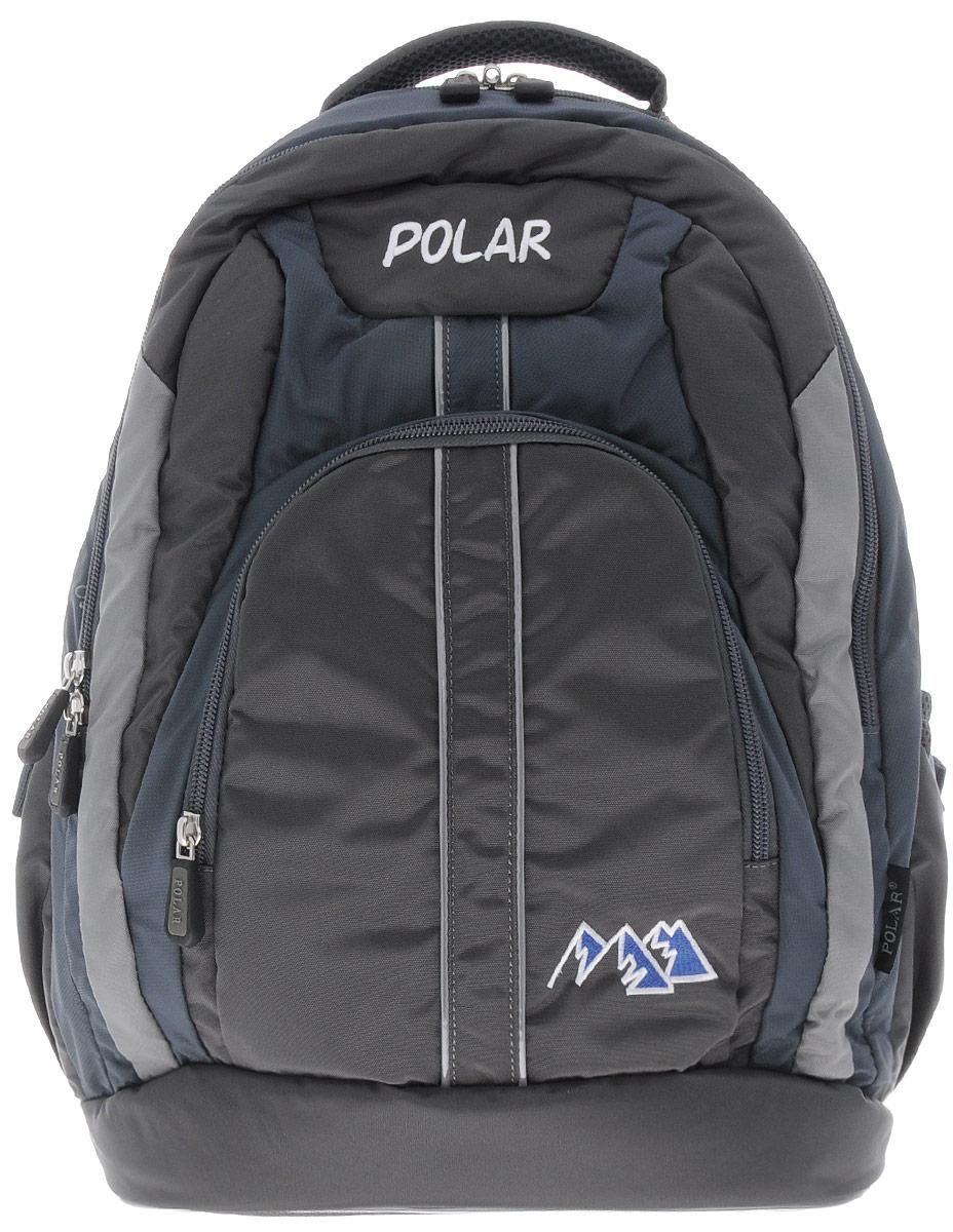 Рюкзак детский городской Polar, 24 л, цвет: серый. П221-06Z90 blackРюкзак фирмы Polar изготовлен из ткани с водоотталкивающей пропиткой. Жесткая спинка рюкзака имеет специальные вставки для лучшего воздухообмена. Новая конструкция лямок позволяет регулировать их не только по длине, но и согласно Вашему росту. Специальное крепление в верхней части каждой лямки поможет отрегулировать их так, что рюкзак сможет носить как взрослый, так и ребенок, не создавая дискомфорта для спины. Жесткое дно делает рюкзак устойчивым и дополняет удобством при ношении.