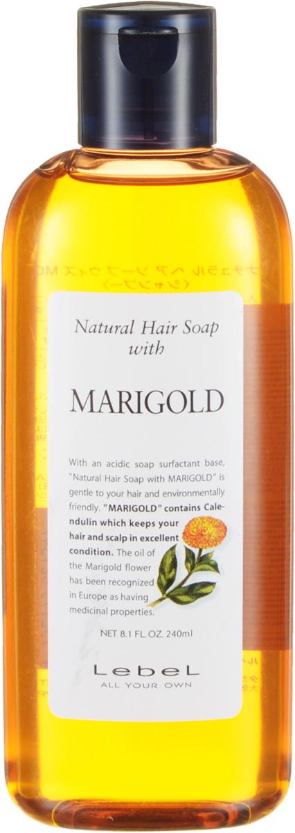 Lebel Natural Hair Шампунь с календулой Soap Treatment Marigold, 240 млFS-00897Шампунь «Календула» Lebel Natural Hair Soap Treatment для жирной кожи головы с экстрактом календулы.Мягко очищает кожу головы и волосы. Сужает поры и оздоравливает кожу головы. Освежает. Хорошо увлажняет. Нормализует рН баланс кожи головы. Защищает от УФ (SPF 15).