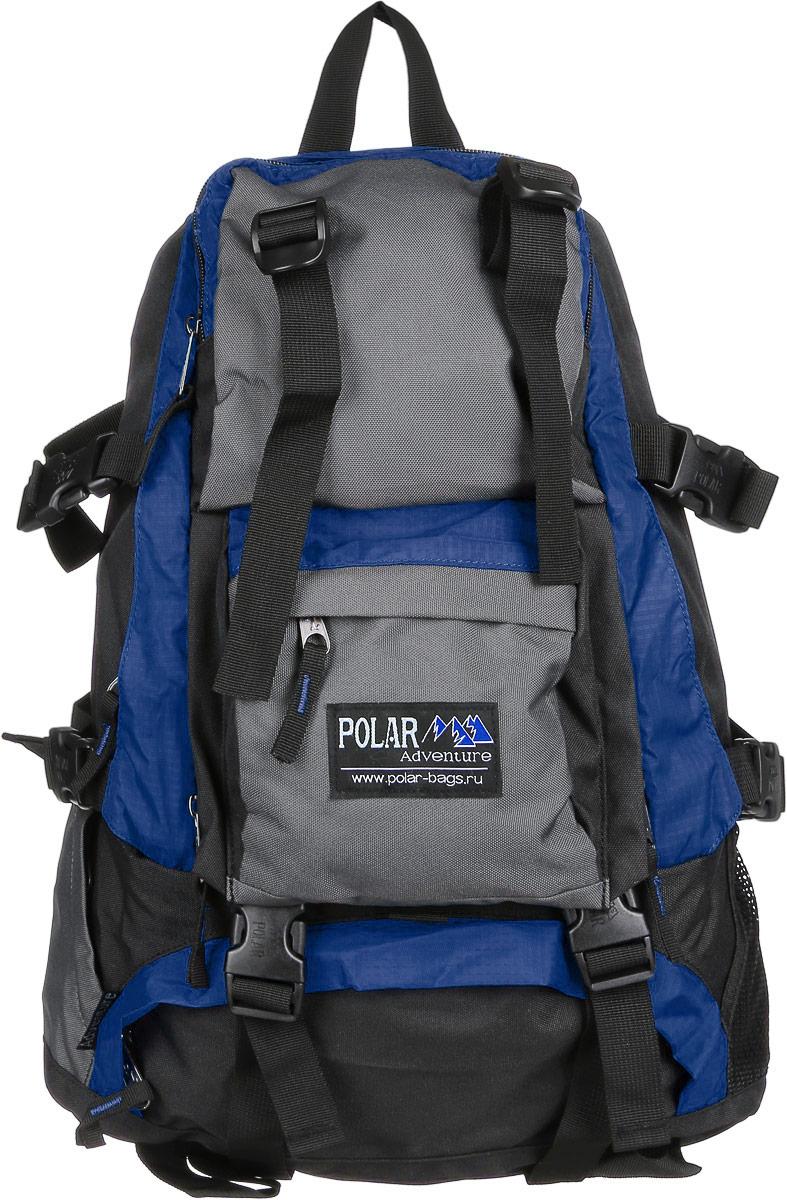 Рюкзак городской Polar, 16 л, цвет: синий. П956-0432052_3306Удобный вместительный рюкзак для всего самого необходимого на отдыхе. Жесткая спинка и удобные лямки повторяющие форму плеча с дополнительной грудной и поясничной стяжками позволяет уменьшить нагрузку на спину и сделает ваш отдых максимально комфортным. Большое отделение с дополнительным карманом на молнии (кошелек, документы) внутри. С внешней стороны расположены стяжки для регулирования объема. Два боковых кармана (правый на молнии, левый из сетки), карман для обуви, три небольших кармана для мелких вещей, один из которых с клапаном и двумя вертикальными молниями застежками и дополнительными отделениями. Рюкзак выполнен из прочного полиэстера с водоотталкивающей пропиткой.
