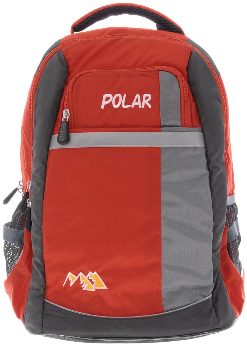 Рюкзак детский городской Polar, 26 л, цвет: оранжевый. П220-023615Рюкзак фирмы Polar изготовлен из ткани с водоотталкивающей пропиткой. Жесткая спинка рюкзака имеет специальные вставки для лучшего воздухообмена. Новая конструкция лямок позволяет регулировать их не только по длине, но и согласно Вашему росту. Специальное крепление в верхней части каждой лямки поможет отрегулировать их так, что рюкзак сможет носить как взрослый, так и ребенок, не создавая дискомфорта для спины. Жесткое дно делает рюкзак устойчивым и дополняет удобством при ношении.