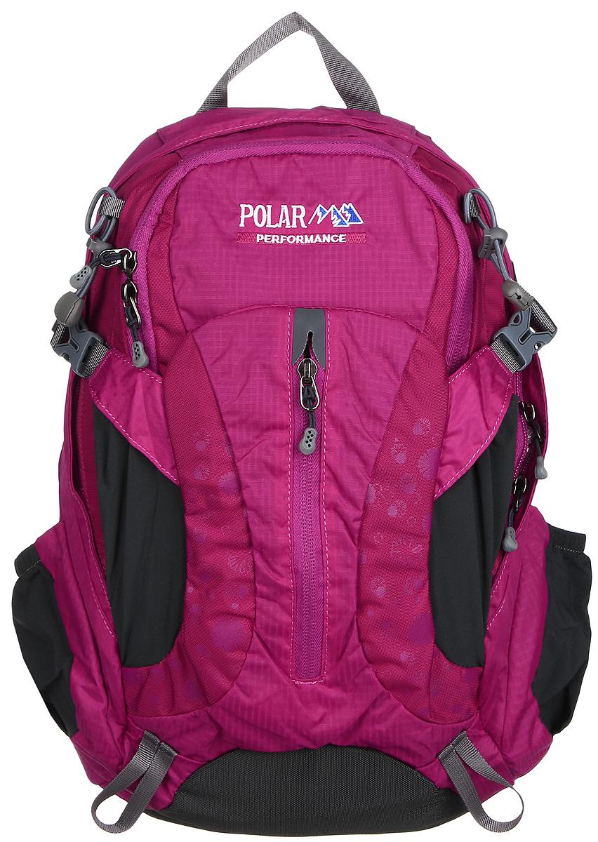 Рюкзак городской Polar, 14,5 л, цвет: розовый. П1552-1733101_3218Женский компактный рюкзак с модным дизайном. Полностью вентилируемая спинка с системой Aircomfort, мягкие плечевые лямки создают дополнительный комфорт при ношении. Центральный отсек для персональных вещей и карманом для папки А4. Большой передний карман с органайзером, внутри удобный мягкий пенал на карабине. Два боковых кармана под бутылку с водой на резинке. Регулирующая грудная стяжка с удобным фиксатором. Регулирующий поясной ремень, удерживает плотно рюкзак на спине, что очень удобно при езде на велосипеде или продолжительных походах.
