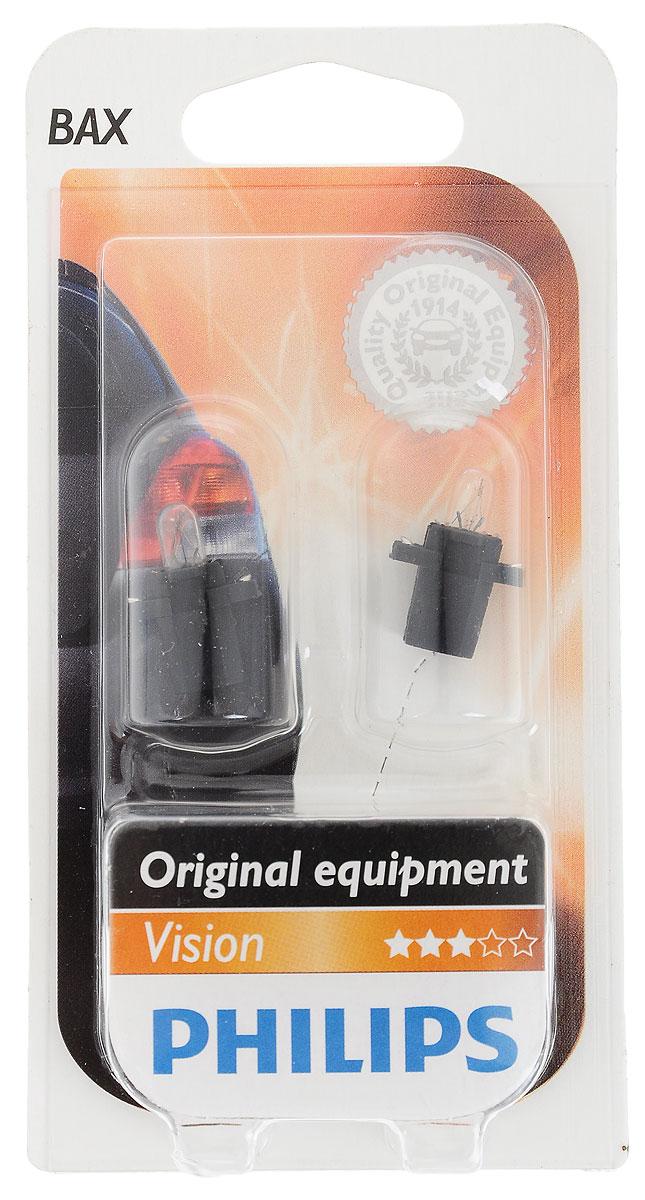 Лампа автомобильная Philips BAX 8,3 12 В, 1,2 Вт. 12597B210503Нашим лампам для панели приборов отдают предпочтение основные производители автомобилей. Лучшее в своем классе качество по доступной цене.