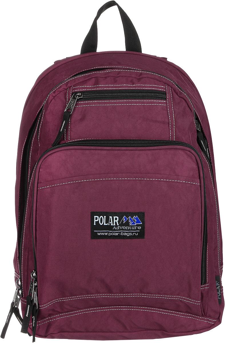 Рюкзак городской Polar, 15 л, цвет: бордовый. П1224-14 - Рюкзаки