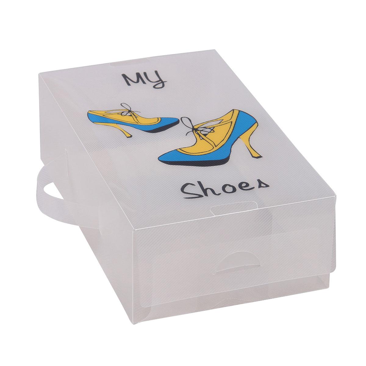 Короб для xранения обуви Miolla, 30 x 18 x 10 см. PLS-10RG-D31SУдобный пластиковый короб для хранения обуви Miolla станет идеальным решением для организации пространства вашего гардероба. Можно больше не переживать за сохранность дорогих туфель или изысканных босоножек, короб Miolla позволит отделить одну пару от другой и в отличие от картонных аналогов не потеряет форму, угрожая испортить любимую обувь.Размер короба: 30 х 18 х 10 см.