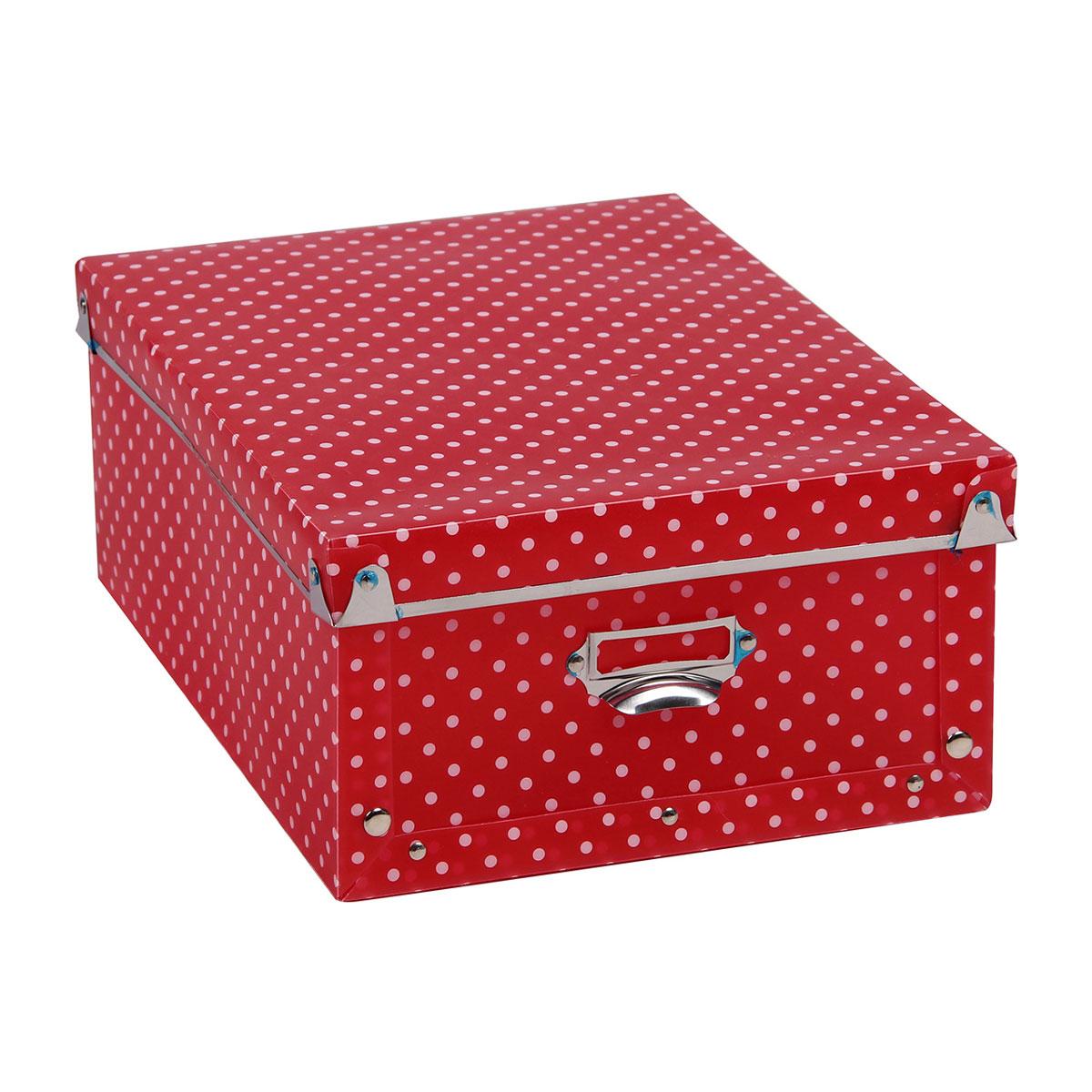 Короб для xранения Miolla, 27 x 18,5 x 14 см. SBD-01Брелок для ключейУдобный и практичный короб Miolla идеально подойдет для хранения бумаг, канцелярских принадлежностей и любых других мелочей. Удобная крышка защитит ваши вещи от пыли, а боковые ручки позволят с легкостью переносить короб с места на место.Размер: 27 x 18,5 x 14 см.