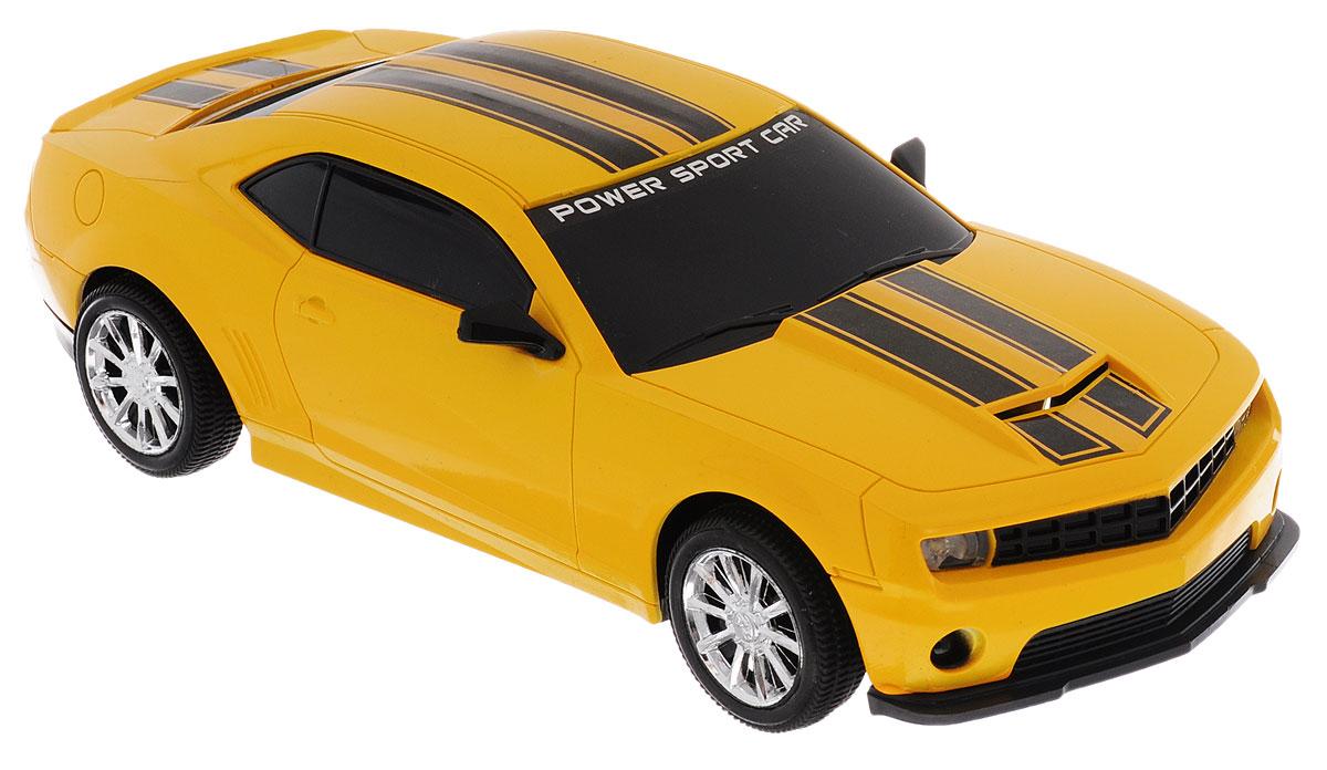 Junfa Toys Машинка инерционная Racing цвет желтый junfa toys автовоз с экскаватором и самосвалом цвет синий
