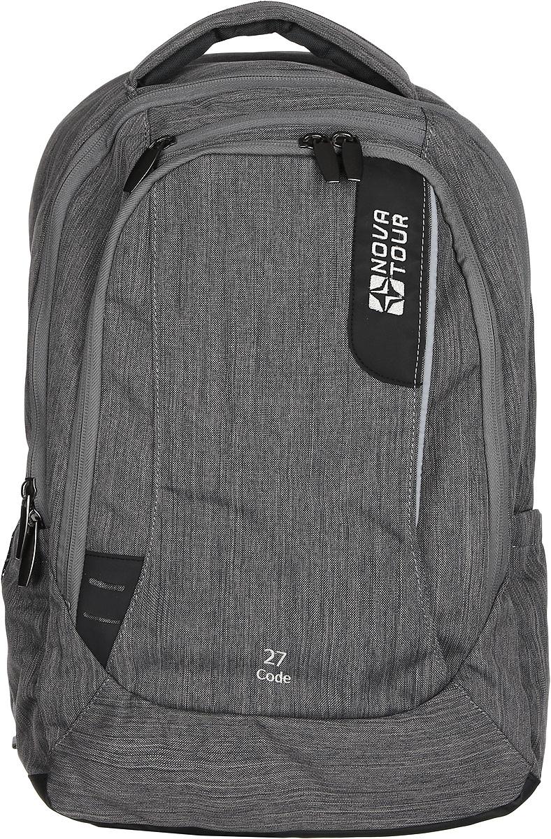Рюкзак городской Nova Tour Код 27, цвет: серый, 20 л7292В рюкзаке есть все, чтобы чувствовать себя комфортно в городском ритме жизни.Отделение под ноутбук, органайзер, карманы для небольшого фотоаппарата и очков, карабин для ключей, светоотражающая вставка.
