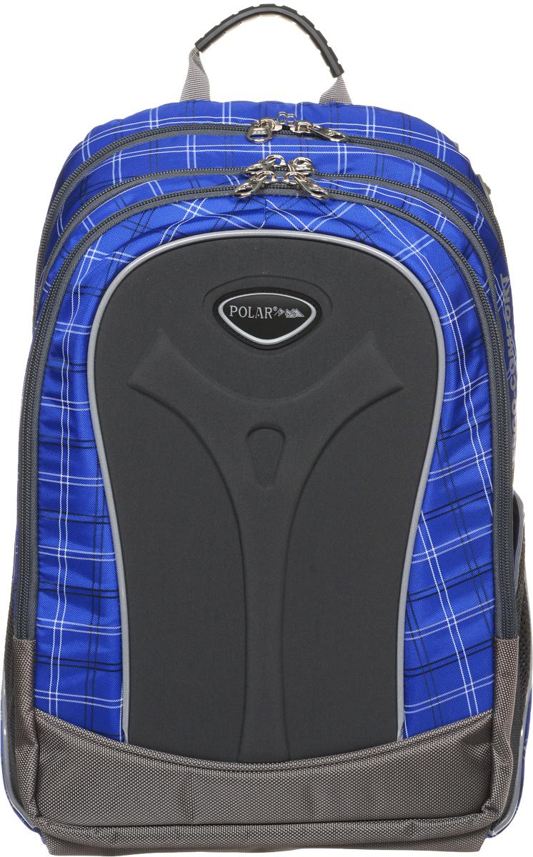 Рюкзак детский городской Polar, 17 л, цвет: синий. П3068-04MABLSEH10001Полностью вентилируемая и удобная мягкая спинка, мягкие плечевые лямки создают дополнительный комфорт приношении. Основное отделение с внутренним отделением для ноутбука диагональю 14 Большие карманы для аксессуаров и персональных вещей. Два боковых сетчатых кармана под бутылку с водой на резинке. Регулирующая грудная стяжка с удобным фиксатором. Материал Polyester Oxford PU 600D.