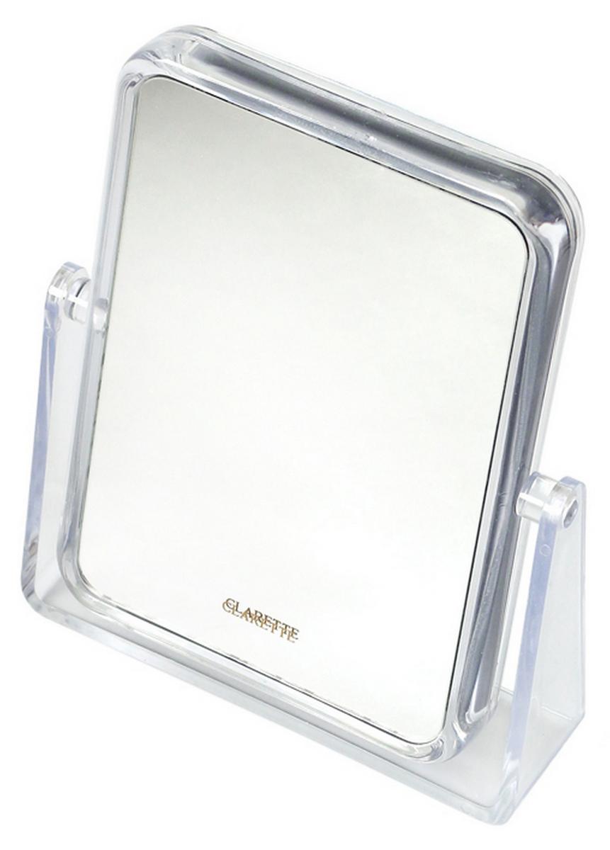 Clarette Зеркало косметическое прозрачное (прямоугольное) косметическое зеркало двустороннее x2 sorcosa plain хром sor 002