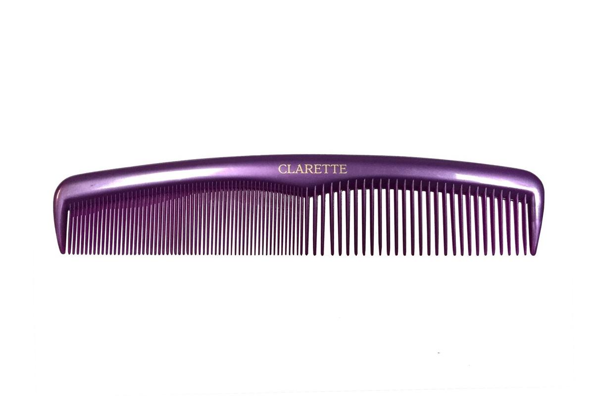 Clarette Расческа для волос универсальнаяя, цвет: сиреневыйMP59.4DКоллекция Clarette Перламутр- это расчески, щетки и термо-брашинги для ухода за волосами. Коллекция изготовлена из перламутрового пластика в яркой цветовой гамме. Форма расчески позволяет легко и удобно расчесывает даже густы волосы. Подходит для ежедневного применения.