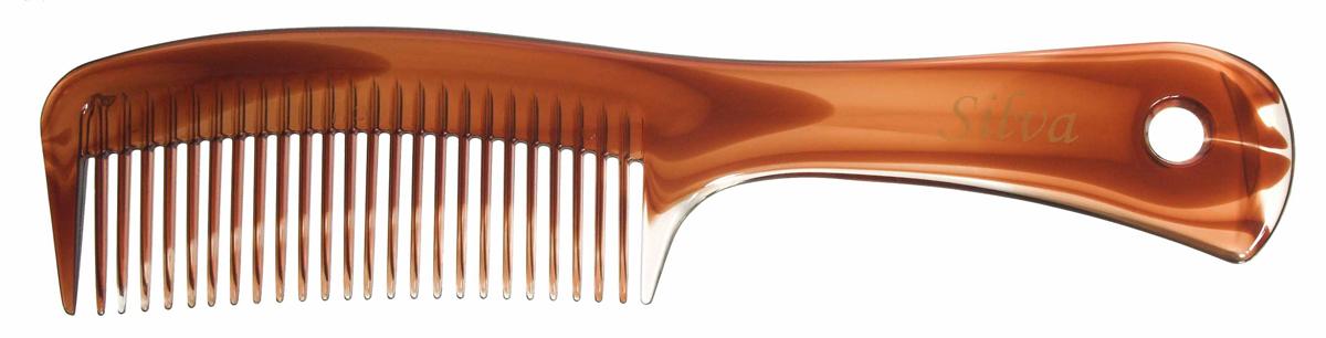 Silva Расческа для волос с ручкой, цвет: коричневыйCPB 103Коллекция Silva Brown- это расчески щетки для волос и брашинги из пластика. Выполнена в классической коричневой цветовой гамме, имеет оригинальную форму ручки. Это коллекция пользуеться большой популярностью у покупателей. Для любого типа волос