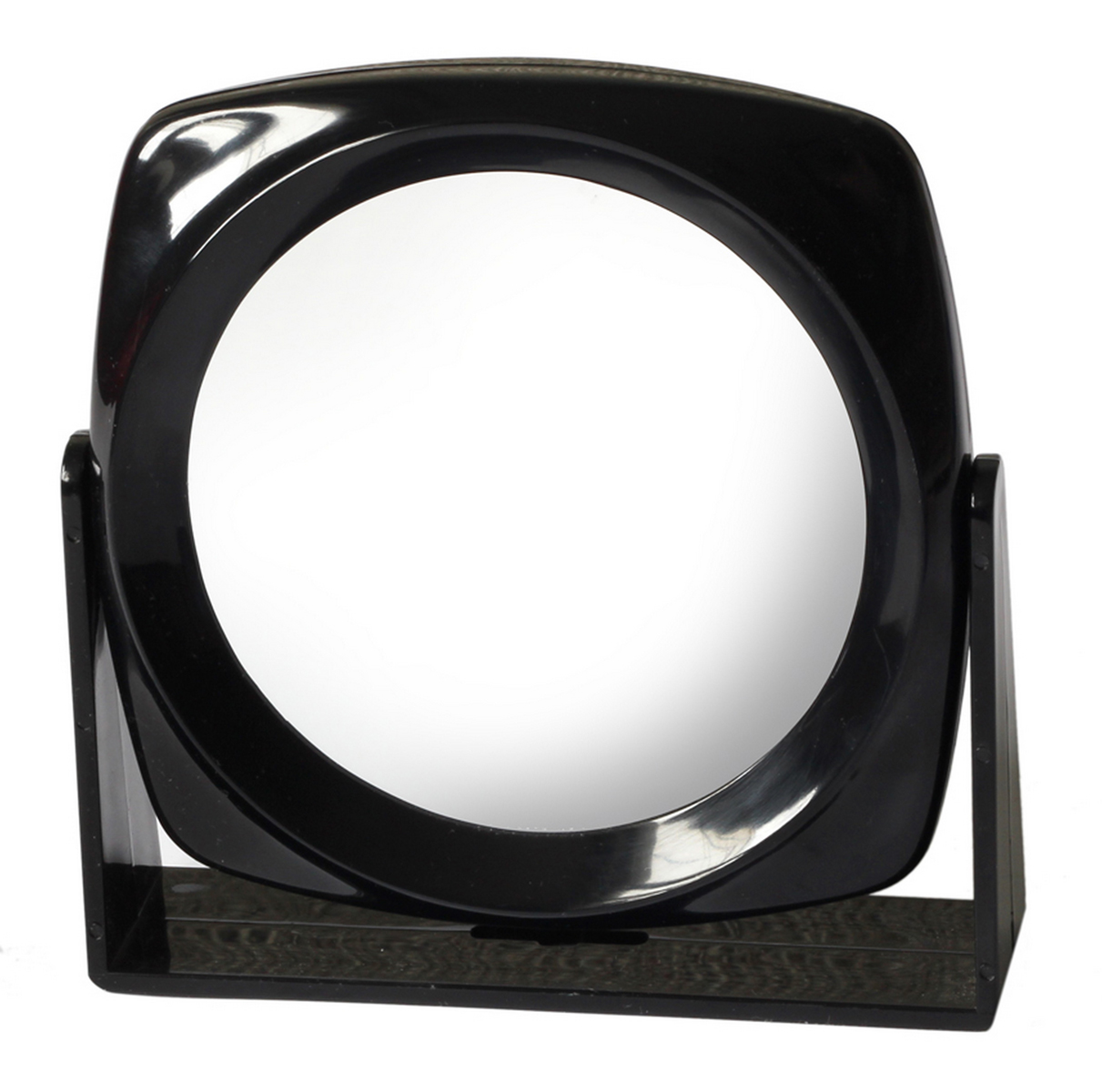 Silva Зеркало настольное, круглое, цвет: черный20850Зеркало двухсторонее, с трехкратным увелечением.