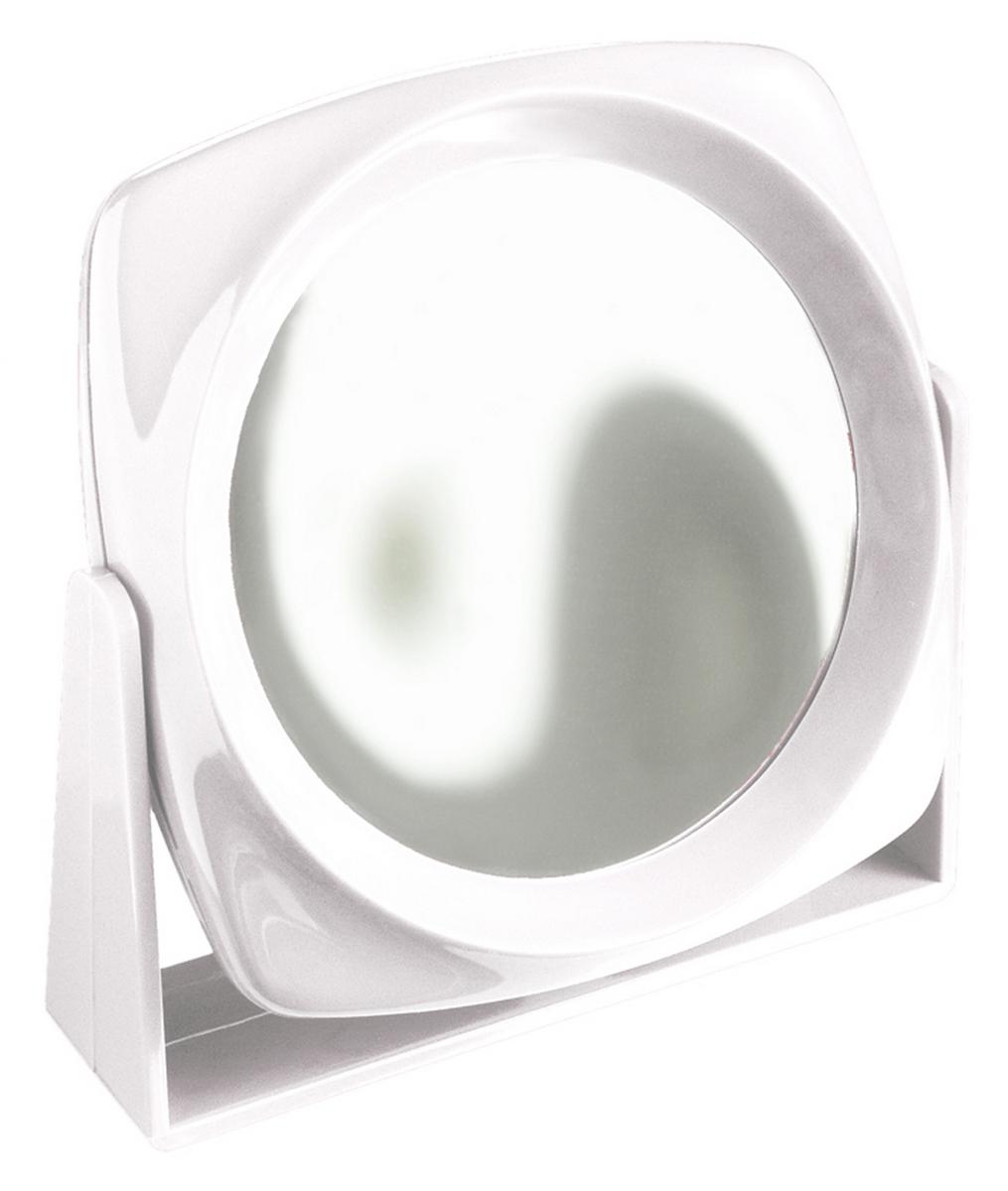 Silva Зеркало настольное, круглое, цвет: белый