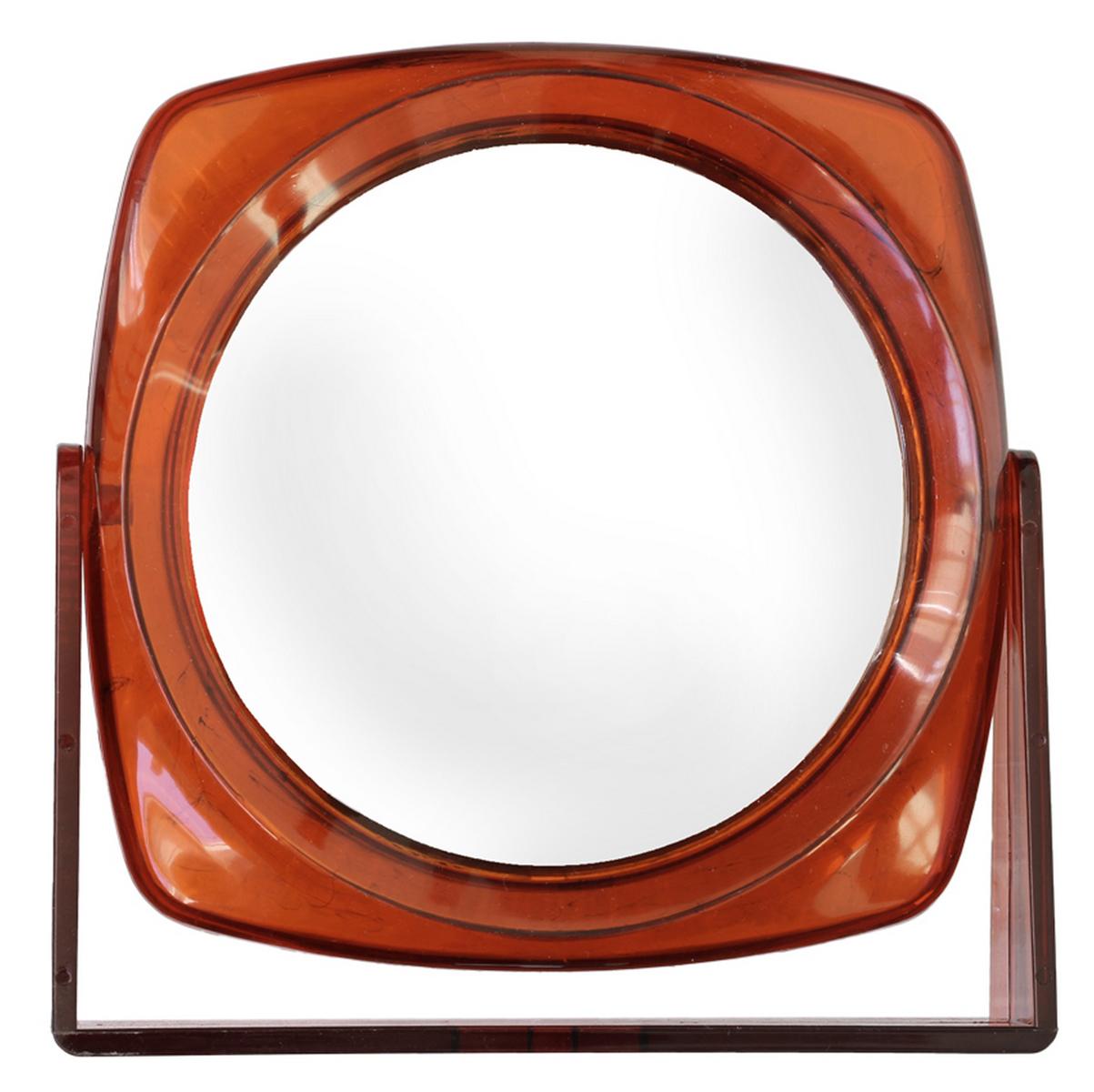 Silva Зеркало настольное, круглое, цвет: коричневый96100Зеркало двухсторонее, с трехкратным увелечением.