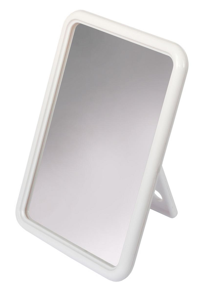 Silva Зеркало настольное, прямоугольное, цвет: белый28032022Зеркало одностороннее Silva