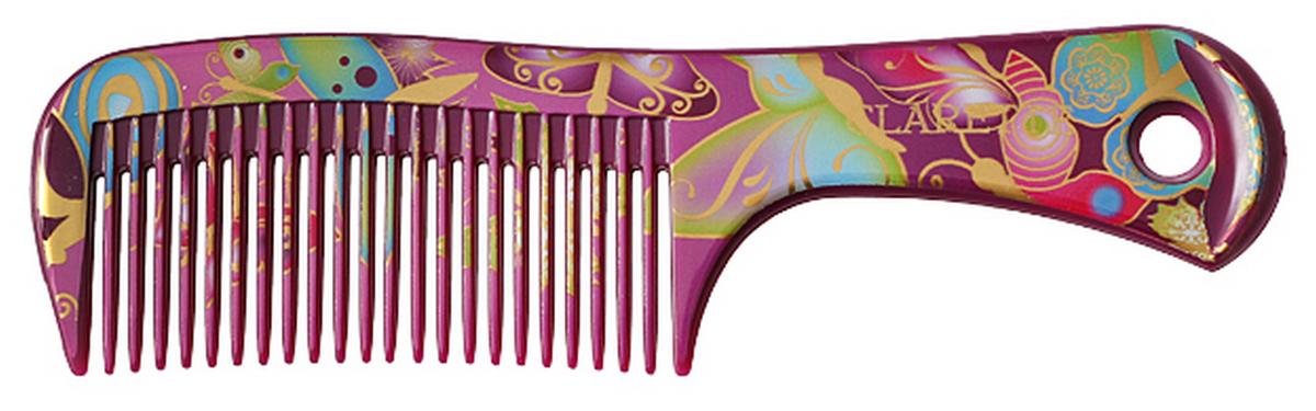 Clarette Расческа для волос малая, цвет: сиреневыйCF5512F4Коллекция Сlarette Fleur- это расчески и щетки для волос из облегченного пластика. Яркая цветовая расцветка напоминает нам о долгожданном лете и улучшает наше настроение. Незаменнима для отпуска. В коллекции представлены щетки разных размеров, в том числе и мини-щетка, которая идеальна для маленьких принцесс. Массажные щетки необычно легки, прочны и долговечны в использовании. Предназначенна для любого типа волос. Форма расчески позволяет легко и удобно расчесывает даже густы волосы. Подходит для ежедневного применения
