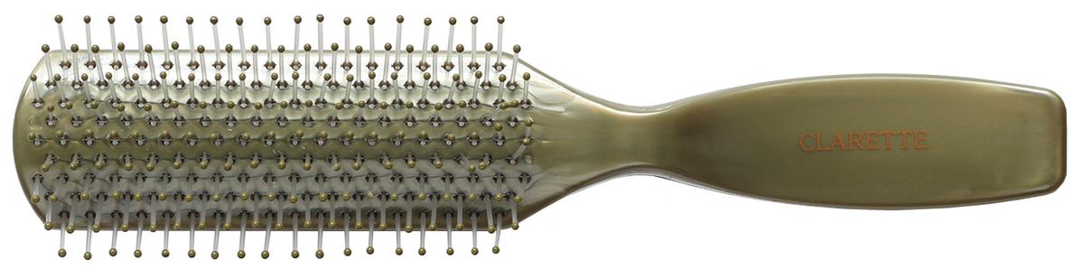 Clarette Щетка для волос с гибкими нейлоновыми зубцами, цвет: оливковыйMP59.3DКоллекция Clarette Перламутр- это расчески, щетки и термо-брашинги для ухода за волосами. Коллекция изготовлена из перламутрового пластика в яркой цветовой гамме. Легко поднимает корни волос, придавая объем прическе