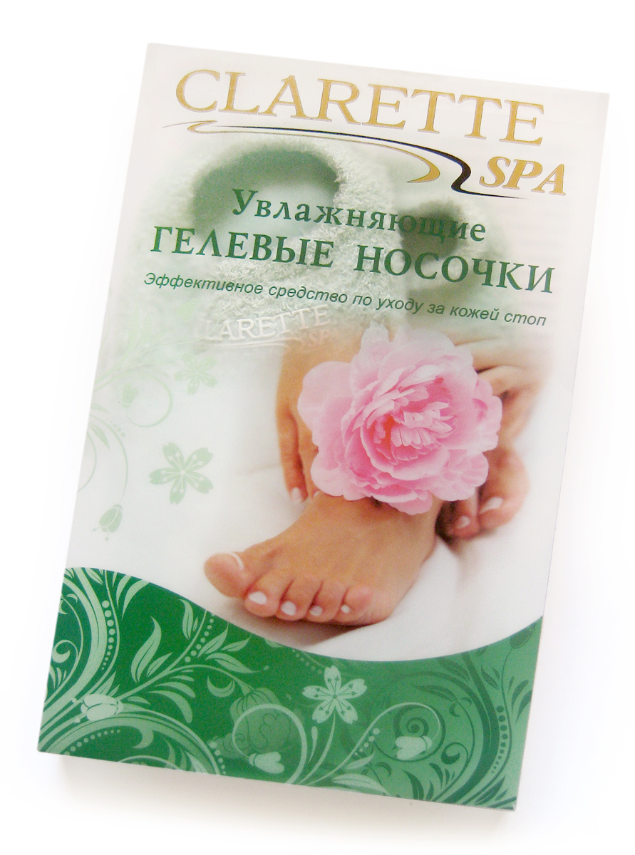 Clarette Увлажняющие гелевые носочки,зеленыеSC-FM20101Увлажняющие носочки Clarette предназначены для ухода за уставшими ногами, сухими ступнями и натоптышами. Регулярное использование способствует устранению сухости, заживлению трещин и ранок, предотвращая появление новых. В результате использования носочков возникает устойчивый эффект увлажнения, исчезают ороговевшие участки кожи, без применения пилинга. Это интенсивный уход без особых усилий!Увлажняющие гелевые носочки Clarette – это многоразовые изделия, выдерживают до 50 применений, сохраняя лечебные свойства и увлажняющий эффект.