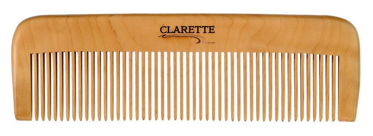 Clarette Расческа для волос деревянная прямая, цвет: бежевыйMP59.4DClarette представляет серию из натурального персикового дерева. Деревянная расческа является самой полезной и безопасной для наших волос. Она максимально щадит волосы: они не так сильно секутся, ломаются, меньше электризуются, выглядят здоровыми, блестящими и шелковистыми. Деревянной расческой можно наносить на волосы всевозможные маски и бальзамы, т. к. древесина не вступает в химическую реакцию с косметическими средствами