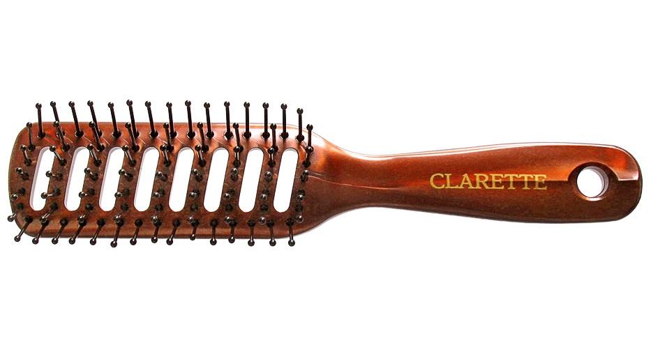 Clarette Щетка для волос вентиляционная, цвет: бордовыйSatin Hair 7 BR730MNКоллекция Clarette Перламутр- это расчески, щетки и термо-брашинги для ухода за волосами. Коллекция изготовлена из перламутрового пластика в яркой цветовой гамме. Вентиляционные отверстия обеспечивают легкий доступ воздуха при использовании фена. Подходит для профессионального применения.