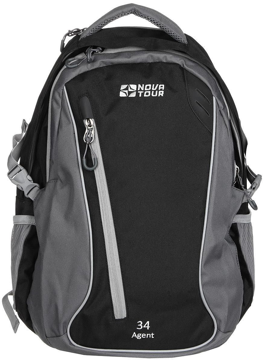 Рюкзак городской Nova Tour  Агент 34 , цвет: черно-серый, 28 л - Рюкзаки