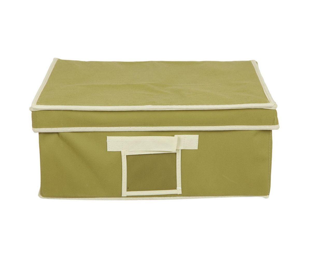Кофр для хранения HomeMaster, складной, цвет: оливковый, 40 х 32 х 17 см20110406Кофр HomeMaster предназначен для хранения вещей. Он обеспечит бережное хранение и позволит организовать внутреннее пространство вашего дома. Теперь вы быстро найдете необходимую вещь. Кофр можно расположить как на полке, так и в выдвижном ящике вашего шкафа.