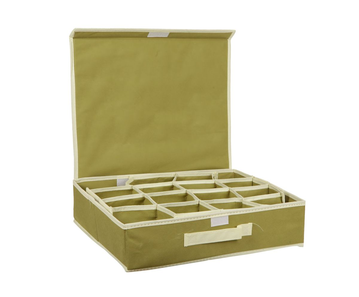 Органайзер HomeMaster, для аксессуаров и нижнего белья, цвет: оливковый, 40 x 32 x 10 смRG-D31SОрганайзер HomeMaster предназначен для хранения аксессуаров и нижнего белья. Он обеспечит бережное хранение вещей и позволит организовать внутреннее пространство вашего дома. Теперь вы быстро найдете необходимую вещь. Органайзер можно расположить, как на полке, так и в выдвижных ящиках вашего шкафа.