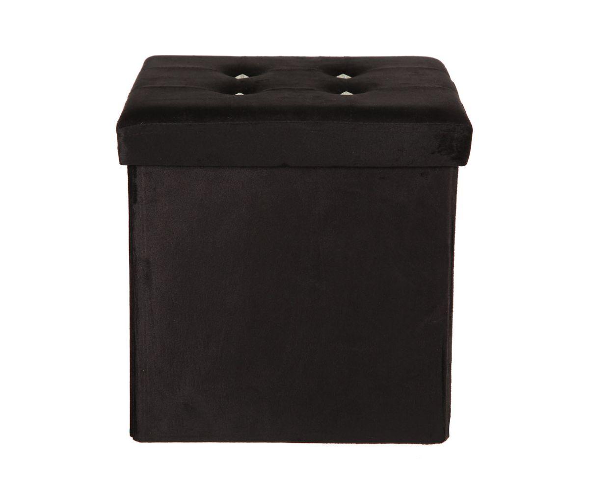 Пуф-короб для хранения HomeMaster, цвет: черный, 38 x 38 x 38 смTD 0033Очаровательный пуф-короб для хранения HomeMaster - удобный, компактный и стильный предмет интерьера. Изделие отличает актуальный дизайн и многофункциональность. На пуфе комфортно сидеть. Верхняя часть пуфа представляет собой съемную мягкую крышку. Внутри можно хранить небольшие предметы домашнего обихода. Пуф-короб складной, благодаря чему его удобно хранить и перевозить. Такой пуф-короб займет достойное место в вашей гостиной или прихожей.