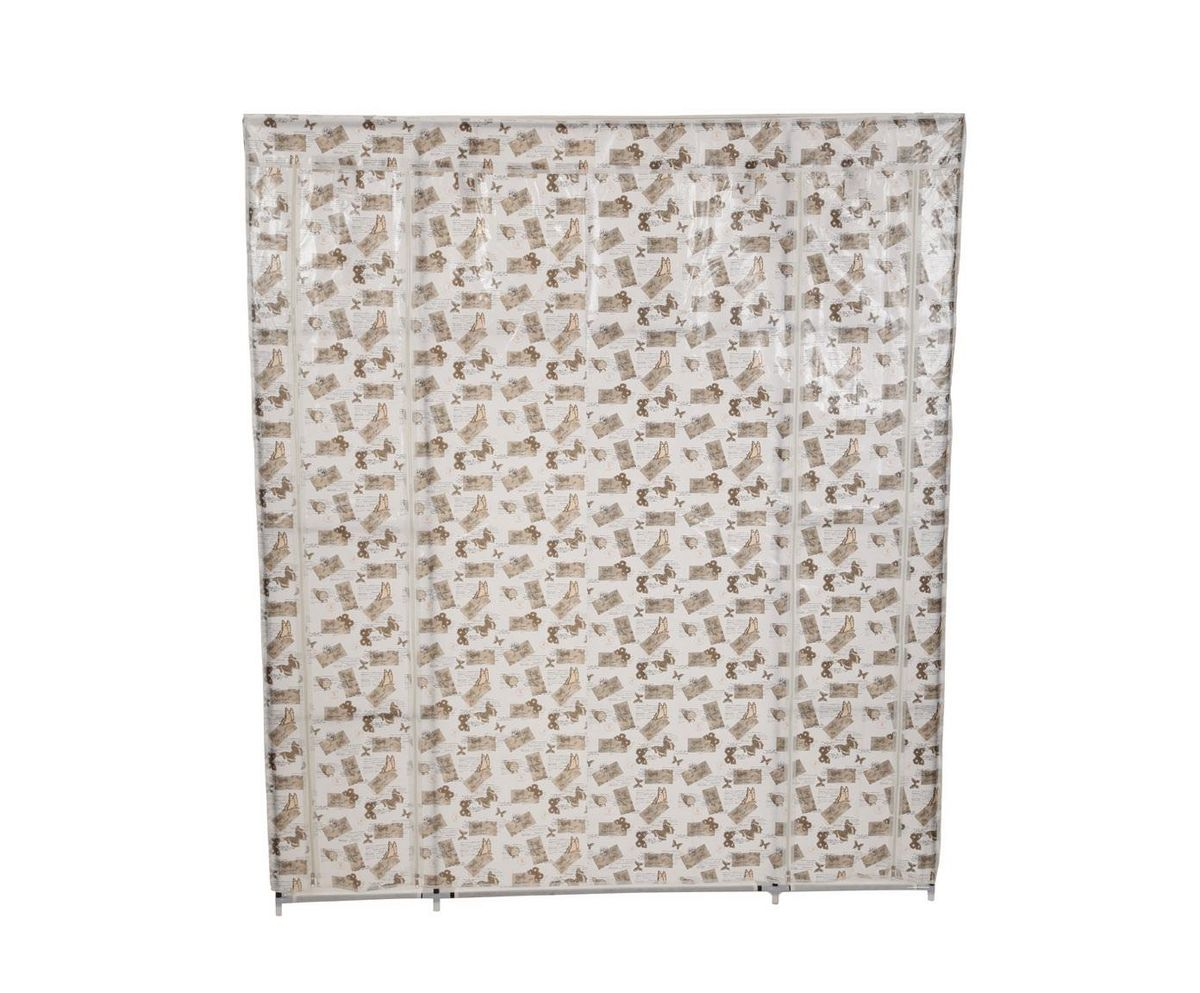 Гардероб для хранения одежды HomeMaster, цвет: белый, серый, 150 x 45 x 175 смRG-D31SСкладной гардероб из ткани HomeMaster - это гениальное и практичное изобретение. Он поможет при переезде или в те моменты, когда к вам приезжают гости, или просто скопилось много одежды, например при смене сезонов. Гардероб имеет несколько секций с полками и вешалкой для одежды, легко складывается и очень компактно хранится, а вес составляет всего несколько килограмм. Замки-молнии на корпусе обеспечат независимый доступ к любой из секций. Его современный и стильный дизайн оформленный фото коллажем впишется в любой интерьер. Внимание! Нестандартная сборка. Верхняя часть шкафа собирается при одетом тканевом покрытии. При сборке используйте инструкцию. Все компоненты должны быть максимально сильно зафиксированы. Тканевое покрытие сшито максимально точно по размерам шкафа.