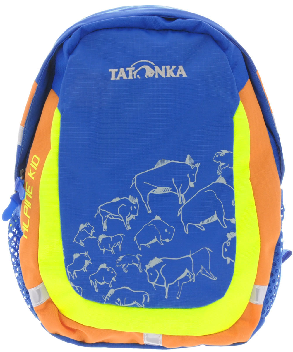Рюкзак детский Tatonka Alpine Kid, цвет: синий, 6 л7292Городской рюкзак для детей от 3 до 5 лет. С объемом основного отделения 6 л. и накладным карманом со светоотражающими вставками - Alpine Kid подходит малышу не только для того, чтобы дойти до детского сада, но и для более длинных маршрутов.