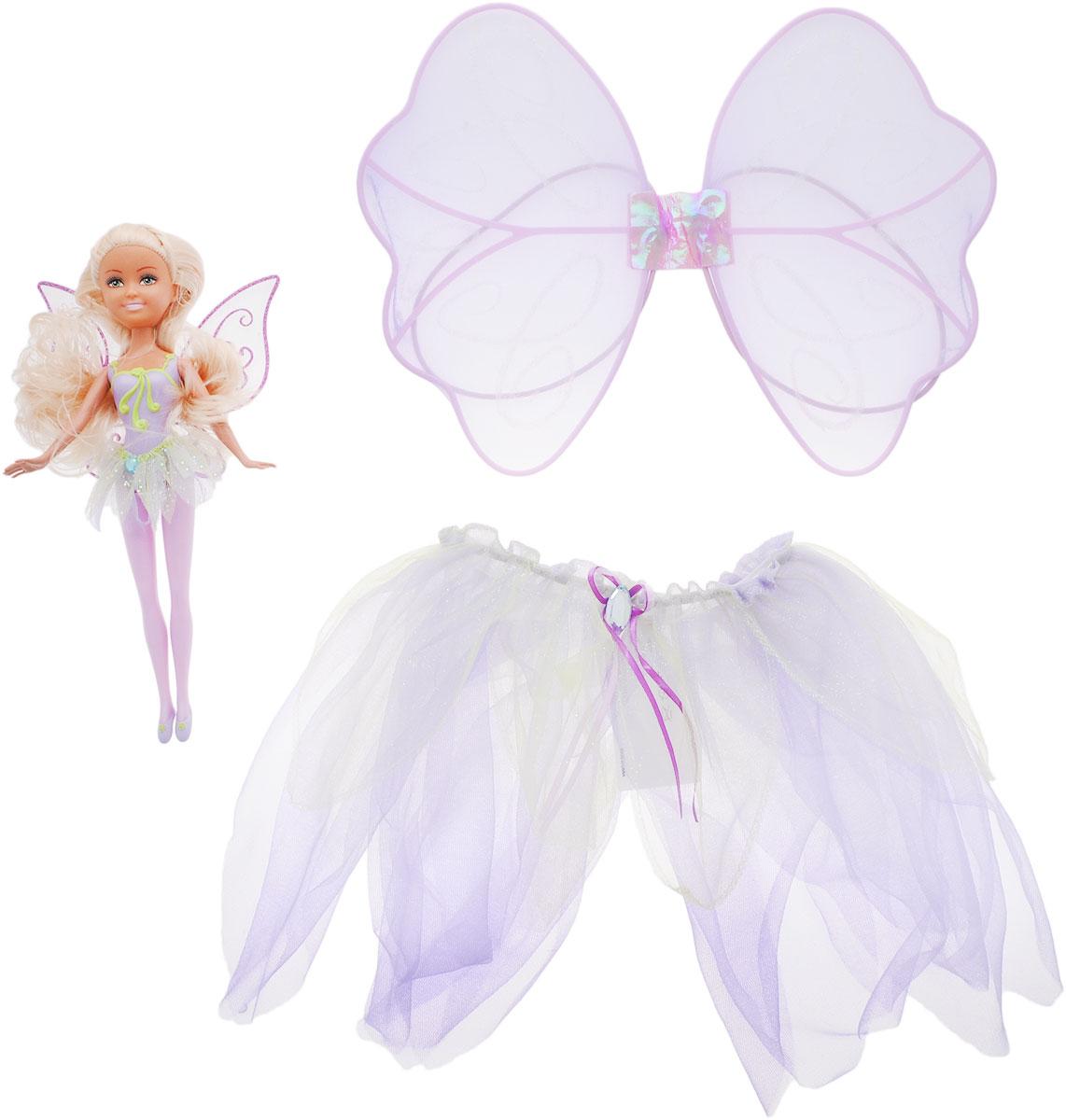 ABtoys Кукла Лесная фея с карнавальным костюмом для девочки abtoys кукла зимняя фея сноусторм
