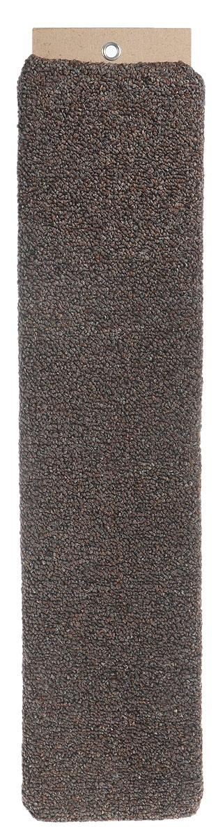 Когтеточка Меридиан, настенная, цвет: светло-коричневый, коричневый, 60 х 12,5 х 3 см0120710Настенная когтеточка Меридиан предназначена для стачивания когтей вашей кошки и предотвращения их врастания. Волокна ковролина обеспечивают естественный уход за когтями питомца. Когтеточка позволяет сохранить неповрежденными мебель и другие предметы интерьера.Длина когтеточки: 60 см.Длина рабочей части: 57 см.