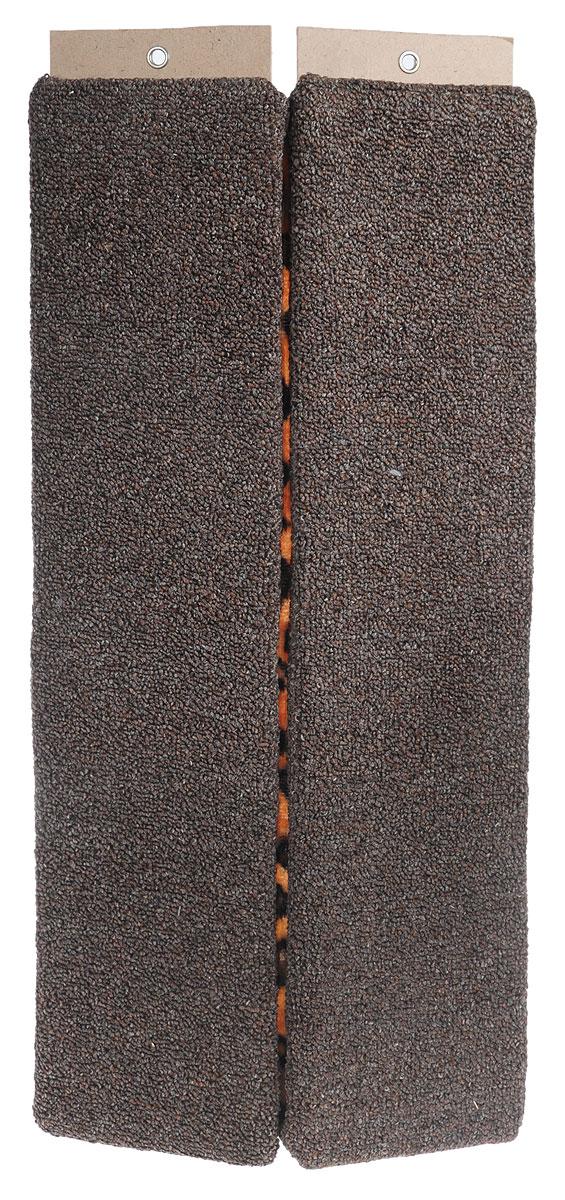 Когтеточка Меридиан, настенная, угловая, цвет: коричневый, черный, длина 68 см0120710Угловая когтеточка Меридиан предназначена для стачивания когтей вашей кошки и предотвращения их врастания. Волокна ковролина обеспечивает естественный уход за когтями питомца. Когтеточка позволяет сохранить неповрежденными мебель и другие предметы интерьера. Угловая когтеточка может крепиться на смежных поверхностях стен и пола.Длина когтеточки: 68 см.Длина рабочей части: 65 см.