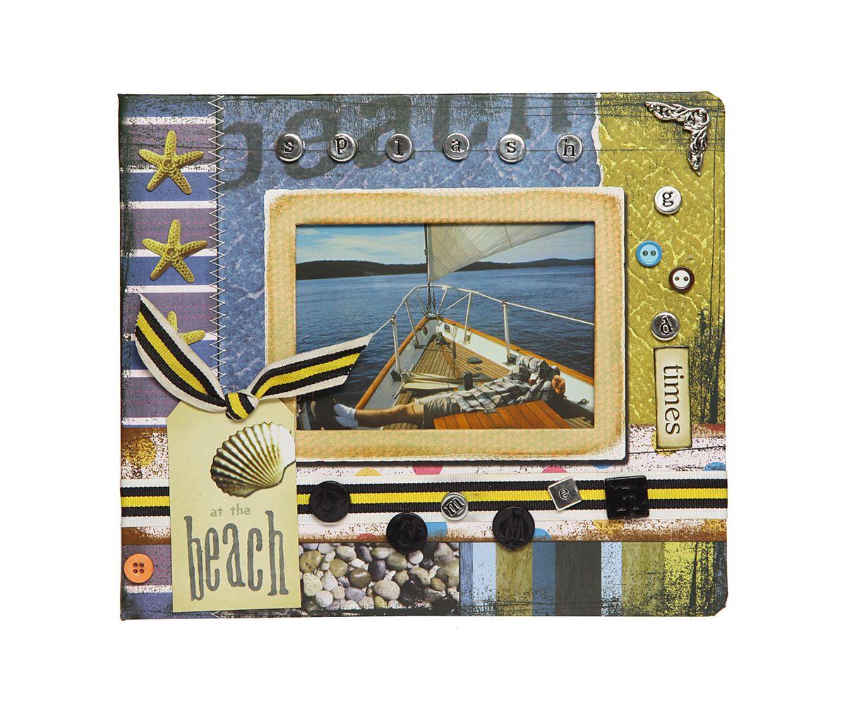 Фотоальбом HomeMaster Лето, 120 фото, 25 х 23 х 4 см41275Оригинальный фотоальбом HomeMaster Лето имеет 30 листов на 120 фото, размером 10 х 15 см. На внутренних страницах альбома есть возможность делать памятные записи. На лицевой стороне альбома также можно разместить одну фотографию. Объемный декор, ручная работа.