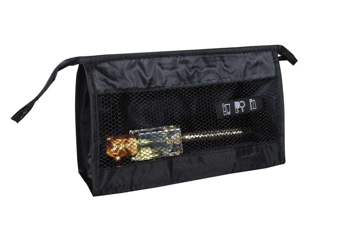 Косметичка HomeMaster, цвет: черный, 26 х 15 х 9 см74-0060Компактный и вместительный органайзер HomeMaster для косметики. Самый лучший друг для девушек, которые любят носить все в свой сумке. Если вы счастливая обладательница нескольких сумок, то органайзер вам необходим. Вы легко сможете переместить его из одной сумки в другую и при этом ничего не забыть. Также органайзер очень полезен для сумок с одним отделением, он создает дополнительные кармашки и отделы.