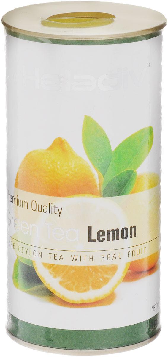 Heladiv Lemon Green чай зеленый листовой с лимоном, 100 г0120710Heladiv Lemon Green - это сочетание элитного зеленого цейлонского чая с насыщенным ароматом и кусочками лимона. Подарит неповторимые ощущения и заряд бодрости.