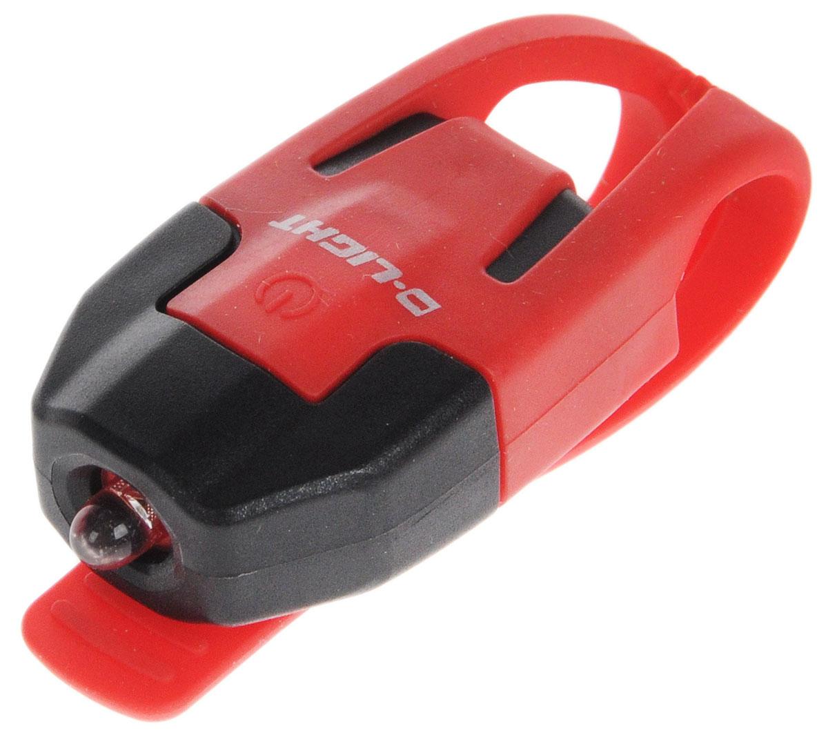 Фонарь велосипедный D-Light CG-210R, габаритный, задний, цвет: красный, черныйMW-1462-01-SR серебристыйЗадний габаритный велофонарь с рассеянным светом D-Light CG-210R предназначен для обеспечения большей безопасности при поездках в темное время суток. Он легко крепится и снимается без дополнительных инструментов на основу диаметром 18-32 мм. Корпус изделия выполнен из прочного пластика. Фонарь имеет 2 режима: мигание и постоянное свечение. Изделие водонепроницаемо.Фонарь питается от 1 батареи типа CR2032 (входит в комплект).Время свечения: 45 ч.Время мигания: 85 ч.Размер фонаря (без учета крепления): 4 х 2,5 х 1,3 см.