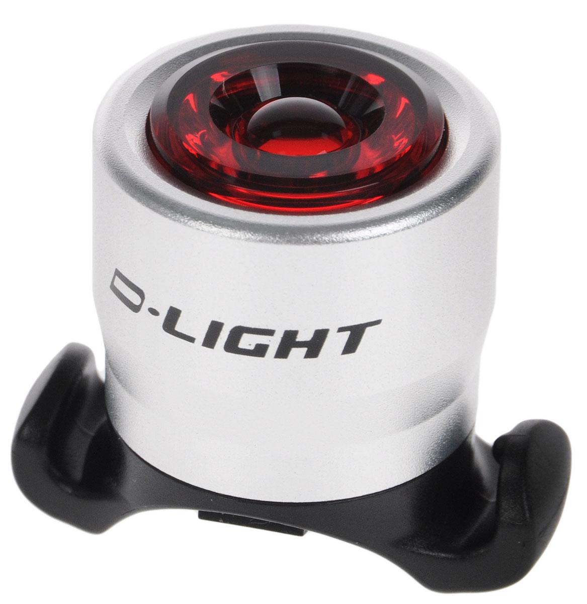 Фонарь велосипедный D-Light CG-212R, габаритный, передний, цвет: серебристый, красный, черныйMW-1462-01-SR серебристыйПередний габаритный велофонарь D-Light CG-212R предназначен для обеспечения большей безопасности при поездках в темное время суток. Он легко крепится и снимается без дополнительных инструментов. Корпус изделия выполнен из прочного алюминия. Фонарь имеет 2 режима: мигание и постоянное свечение. Он водонепроницаем, имеет один SMD красный светодиод.Фонарь питается от 2 батарей типа CR2032 (входят в комплект).Время свечения: 60 ч.Время мигания: 120 ч.Диаметр фонаря: 2,7 см.Высота фонаря: 3,5 см.
