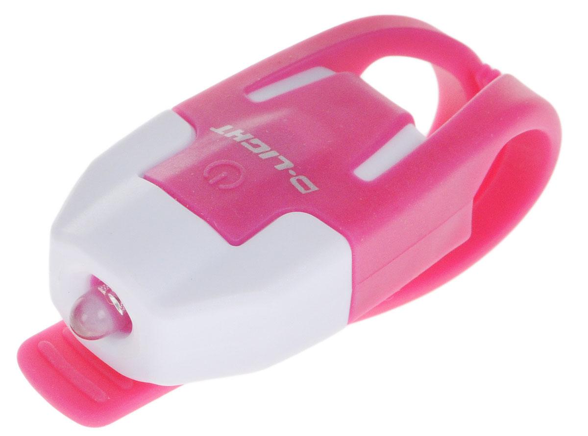 Фонарь велосипедный D-Light CG-210R, габаритный, задний, цвет: розовый, белыйMW-1462-01-SR серебристыйЗадний габаритный велофонарь с рассеянным светом D-Light CG-210R предназначен для обеспечения большей безопасности при поездках в темное время суток. Он легко крепится и снимается без дополнительных инструментов на основу диаметром 18-32 мм. Корпус изделия выполнен из прочного пластика. Фонарь имеет 2 режима: мигание и постоянное свечение. Изделие водонепроницаемо.Фонарь питается от 1 батареи типа CR2032 (входит в комплект).Время свечения: 45 ч.Время мигания: 85 ч.Размер фонаря (без учета крепления): 4 х 2,5 х 1,3 см.