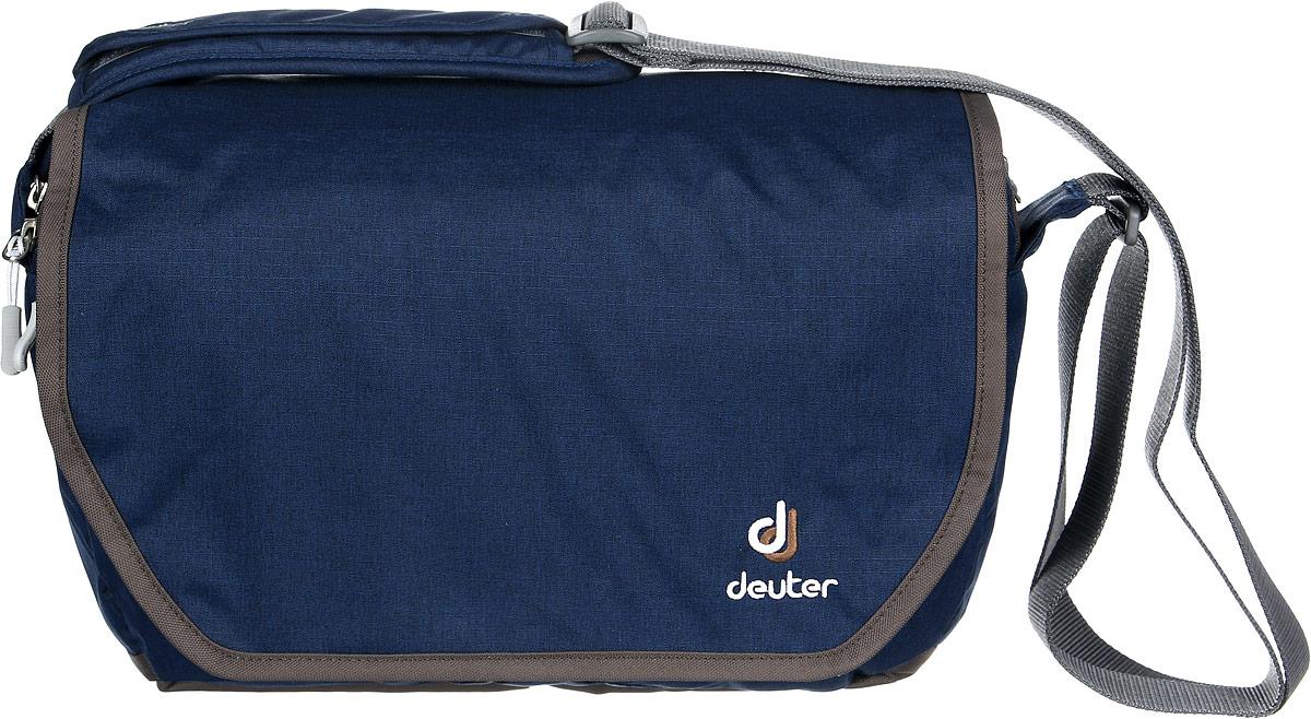 Сумка Deuter Carry out, цвет: светло-голубой, коричневый, 8л95429-924Прекрасная, обновленная, городская сумка. Эта сумка имеет высокие возможности стать вашим лучшим другом.Сумка представляет собой защитный чехол, закрывающийся на молнию, с невероятным количеством отделений и множеством систем их закрытия. два вместительных основных отделения с тремя перегородками. Имеется аккуратный съемный мешок, внутренний карман, закрывающийся на молнию, фронтальный отсек со съемным отделением, маленький кармашек для телефона, задний карман, закрывающийся на молнию, эластичный, регулируемый ремень на плечо, материал Deuter-Super-Polytex Deuter-Ripstop 330, вес 500 грамм, объем 8 литров, размер 24 х34 х 13 cm