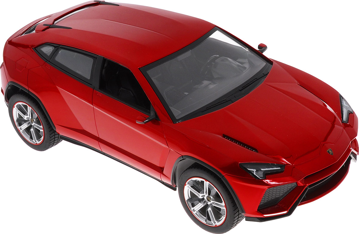 """Радиоуправляемая модель Rastar """"Lamborghini Urus"""" станет отличным подарком любому мальчику! Все дети хотят иметь в наборе своих игрушек ослепительные, невероятные и модные автомобили на радиоуправлении. Тем более, если это автомобиль известной марки с проработкой всех деталей, удивляющий приятным качеством и видом. Одной из таких моделей является автомобиль на радиоуправлении Rastar """"Lamborghini Urus"""". Это точная копия настоящего авто в масштабе 1:14. Авто обладает неповторимым провокационным стилем и спортивным характером. Потрясающая маневренность, динамика и покладистость - отличительные качества этой модели. Возможные движения: вперед, назад, вправо, влево, остановка. При движении загораются фары и стоп-сигналы. Для работы игрушки необходимы 5 батареек типа АА напряжением 1,5V (не входят в комплект). Для работы пульта управления необходима 1 батарейка 9V типа """"Крона"""" (не входит в комплект)."""