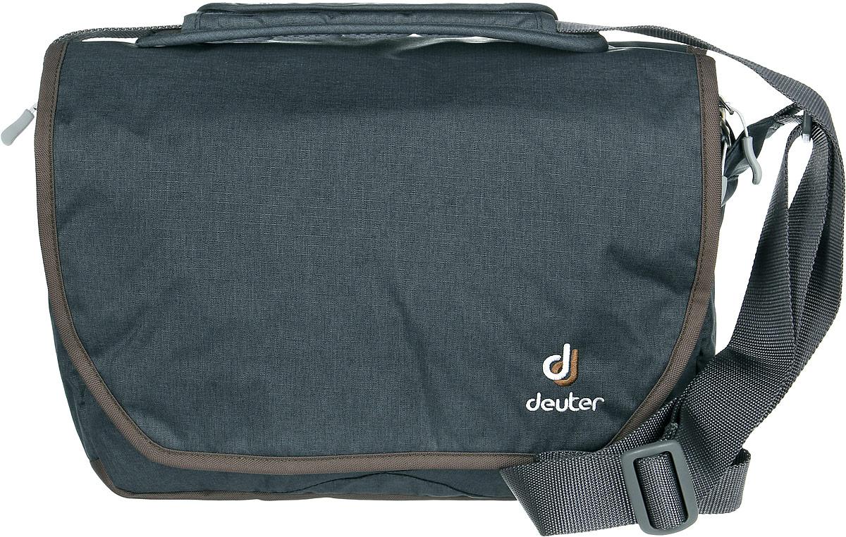 Сумка Deuter Carry out, цвет: темно-серый, коричневый, 8лГризлиПрекрасная, обновленная, городская сумка. Эта сумка имеет высокие возможности стать вашим лучшим другом.Сумка представляет собой защитный чехол, закрывающийся на молнию, с невероятным количеством отделений и множеством систем их закрытия. два вместительных основных отделения с тремя перегородками. Имеется аккуратный съемный мешок, внутренний карман, закрывающийся на молнию, фронтальный отсек со съемным отделением, маленький кармашек для телефона, задний карман, закрывающийся на молнию, эластичный, регулируемый ремень на плечо, материал Deuter-Super-Polytex Deuter-Ripstop 330, вес 500 грамм, объем 8 литров, размер 24х34х13 cm