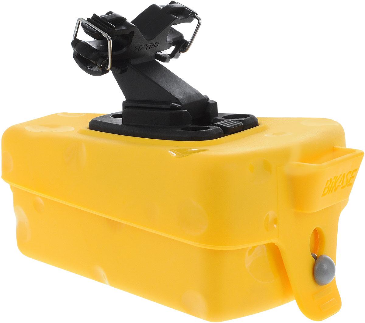 Сумка подседельная BiKase Cheese Wedge, 13 х 9 х 5,5 смASS-02 S/MПодседельная сумка для велосипеда BiKase Cheese Wedge выполнена из высококачественного полиуретана и имеет форму куска сыра. Закрывается на фиксатор. Изделие легко и быстро устанавливается под седло. Сумка имеет 1 отделение, внутри которого расположен текстильный кармашек.